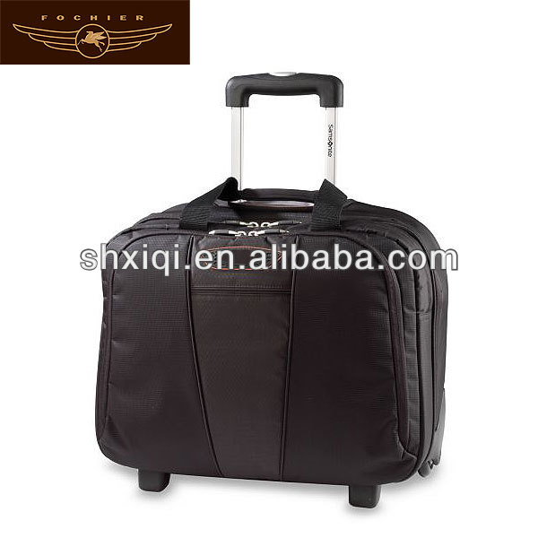 man business travel trolley laptop briefcase