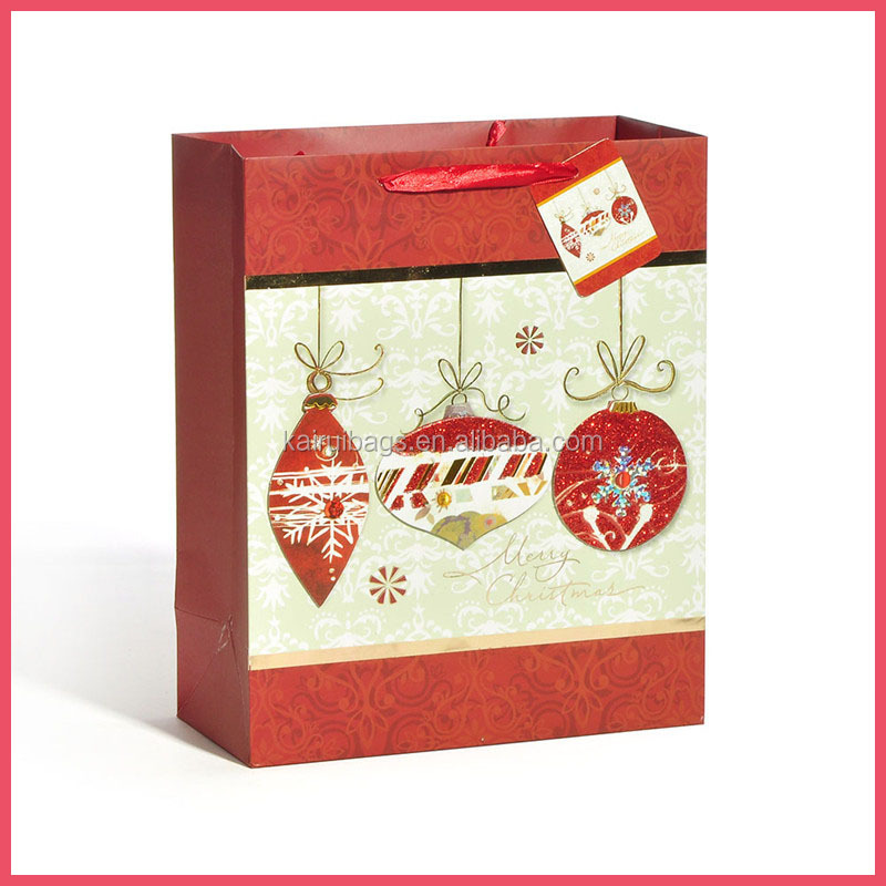 colorful handmade paper bag christmas ornaments