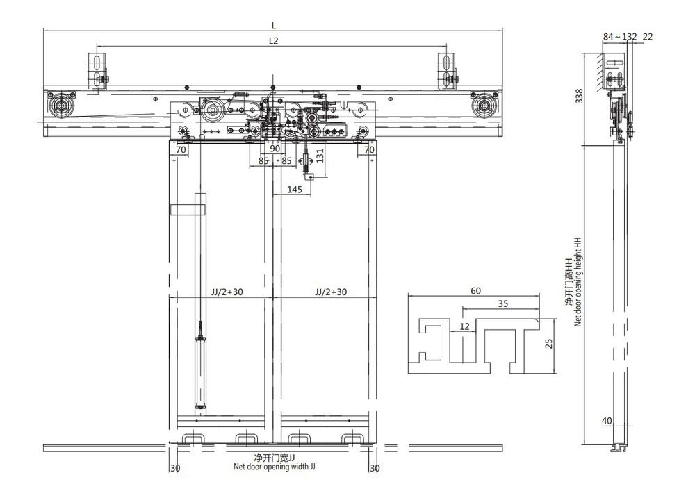 m canisme d 39 ouverture de porte pali re automatique pi ces. Black Bedroom Furniture Sets. Home Design Ideas