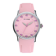 Valentine's Gift Trend Design Pink Girls Quartz Watch 5ATM Waterproof
