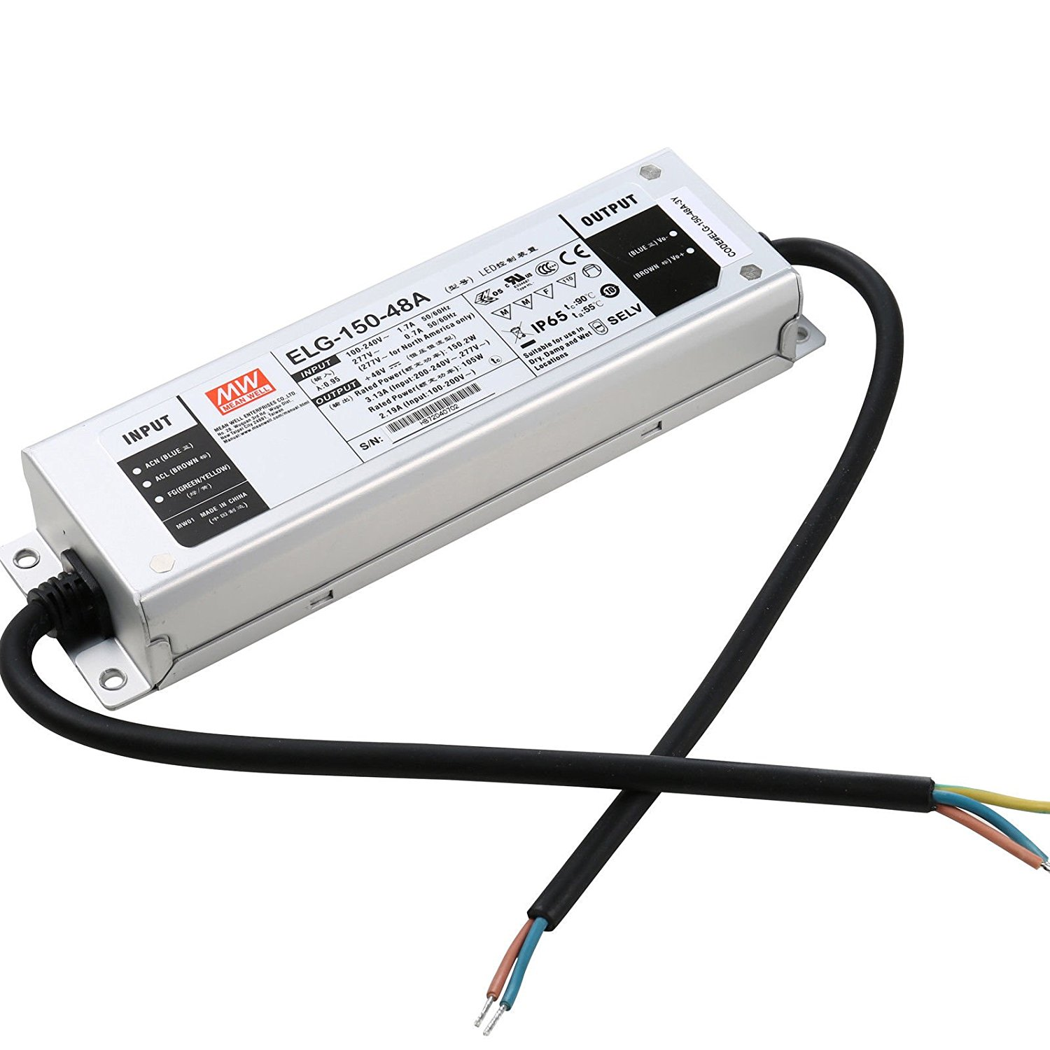 ELG-150-48A 150Watt 45V 48V 50V IP65 Waterproof DC Power Supply
