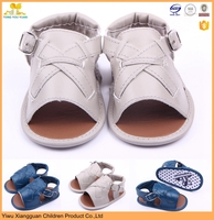 Soft sole leather baby barefoot sandals shoes for hot summer