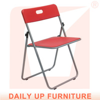 Commercial Used Folding Chairs Wholesale Handy Church Chair Lightweight Visitor Chair Easy-Moving Long Service Life