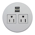 Mini Desktop Socket With Two US Power and USB Charger from manufacture