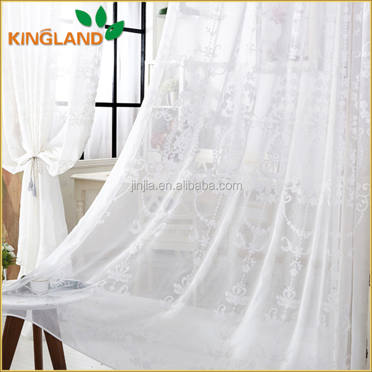 Low price guaranteed quality design embroidered sheer turkish curtains