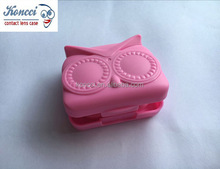 Owl cute contact lens travel kits animal contact lens mate case A-039