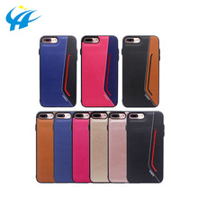 half leather mobile phone cover case shockproof waterproof for phone splicing phone case custom