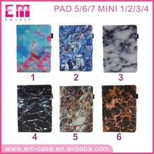Marble Design Flip Leather Case For ipad5 6 2017,Marble Grain Wallet Case for ipad mini