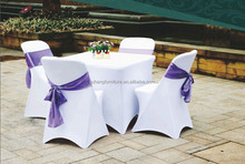 white cheap universal spandex lycra stretch elastic chair cover for hotel wedding banquet party