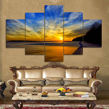 Giclee artwork Sunset landscape canvas oil painting for living room home hotel cafe modern Wall Decoration