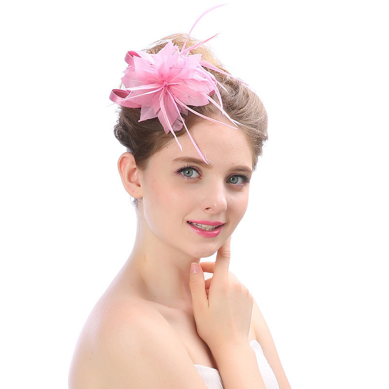 Simple Pure Color Party Wedding Hair Accessories Small Hat