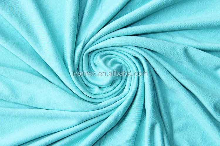 Wholesale Cheap Knitting Solid Dyed Rayon/Viscose Fabric for Men's T shirt