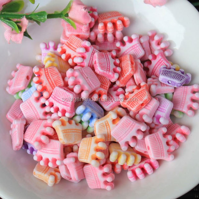 Plastic Crown Beads for Jewelry Making Spacer Bead