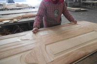 red oak veneer moulded door skin in shandong