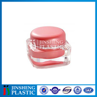 Hot sale ISO9001 certified Empty Acrylic cosmetic sifter jars