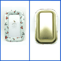 Fashion design mini restaurant service rectangular metal tray