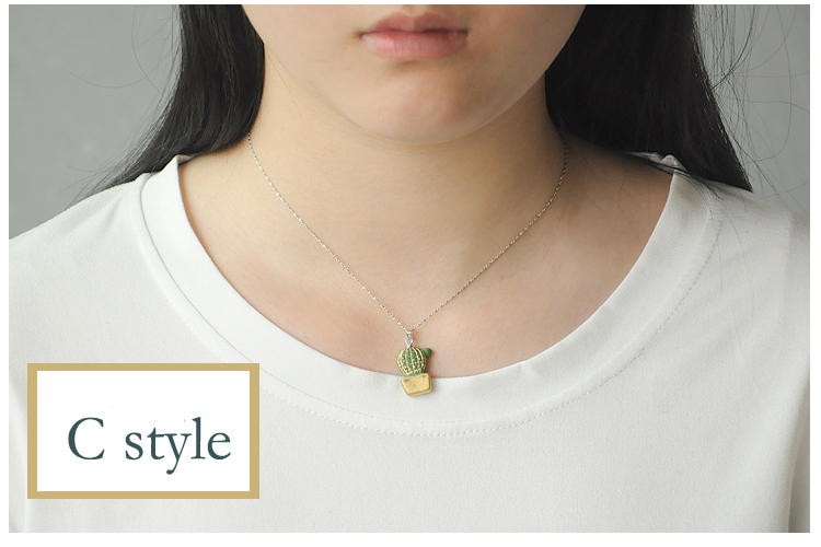 cactus necklace ceramic necklace charm design cactus choker wholesale accessory most beautiful and fashional accessories