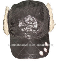 winter baseball hat with earflaps