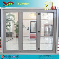Hurricane proof windows and doors aluminum casement window