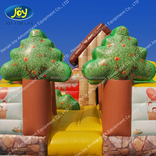 New design inflatable warm and sweet small hut castle bounce in the forest
