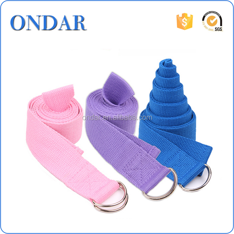 Factory price Cotton Yoga strap and yoga mat carrying belts