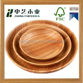 High quality wooden plate and bowls