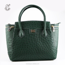Louis Ange fashion genuine ostrich leather luxury women's tote shoulder bags pedlock handbags