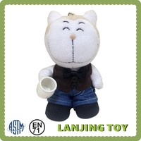 Cute Cat Coffee Promotion Plush Toy
