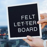 Black Felt Letter Board With Oak
