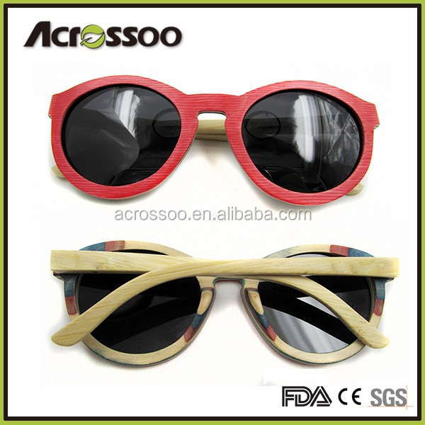 Cheap Natural Wooden Sun glasses, Vintage Half Frame Bamboo Sunglasses Wholesale