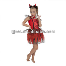 Sexy red devil halloween carnival kids costume
