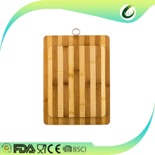 Customized and antibacterial oval shaped bamboo cutting board