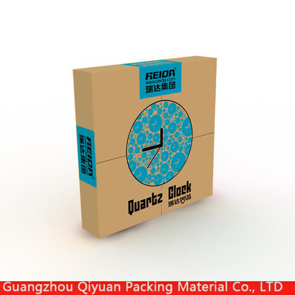 Manufacturer china wholesale folding hard corrugated cardboard storage clock packaging boxes