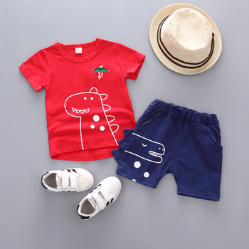 S50283A 2pcs/set Casual Baby Boy Girl Clothes 2019 Summer New cool Clothing Sets For Newborn Baby Bow Tie Bodysuit + Suspender T