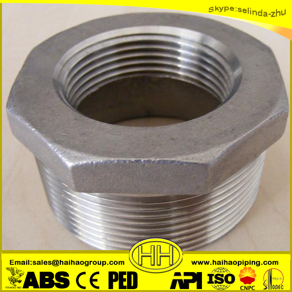 Carton steel hex bushing
