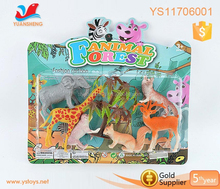 Colorful pet toy miniature zoo animal set forest animal toy