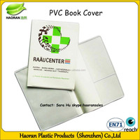 Hot sale white hard silicon book cover with pocket