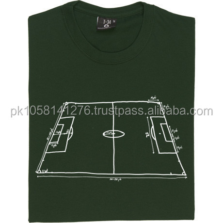 Foot ball pitch design t shirt