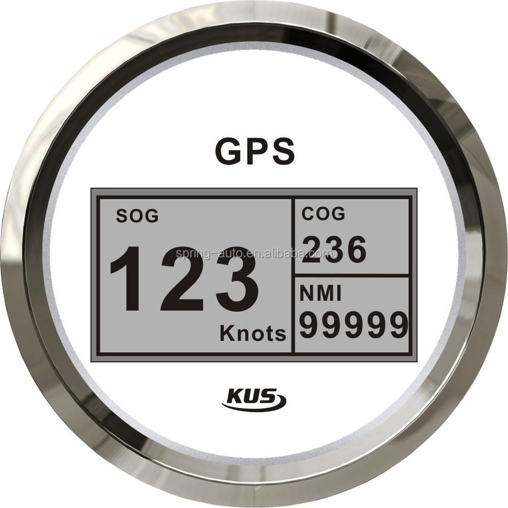 85mm digital GPS Speedometer with mating antenna and backlight