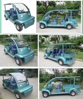park vehicle of Electric utility car ,Green colour Electric utility vehicles, long cargo bed and roof, EG6063KCX