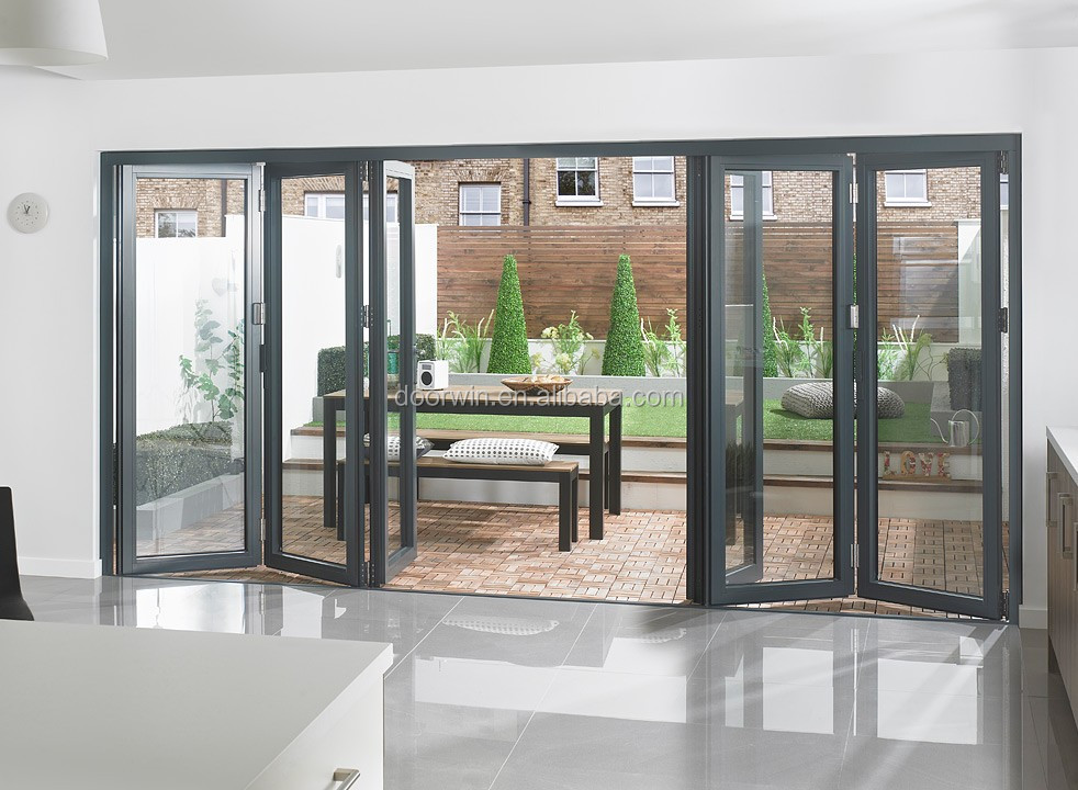 Australian style exterior glass folding door/accordion door