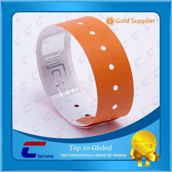 wholesale 13.56MHZ NTAG 213 paper wristbands