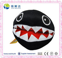 "Super Mario Brothers Bros Black Chain Chomp 7"" Stuffed Toy Plush Doll"
