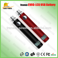 innovative products handfeel 510 thread battery evod vv battery LCD battery