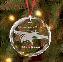 Blank Clear Glass Flat Ornaments For Christmas Decorations