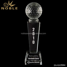 Noble High Quality Unique Custom Crystal Golf Ball With Crystal Base Awards Trophy