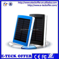 Newest universal external battery pack with led flashlights solar Power Bank 20000mah