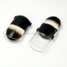 Wholesale Small Synthetic Hair Makeup Travel Brush Mini Compact Retractable Kabuki Brush