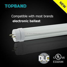 Play and plug UL DLC Listed Ballast Compatible T8 LED Tube, reliable Detachable driver