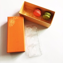 6 pcs macaron printing paper gift box packing boxes macarrons display macaron box wholesale with inner tray